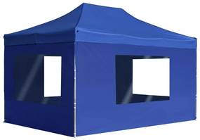 45497 vidaXL Tenda dobrável profissional com paredes alumínio 4,5x3m azul