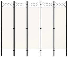 Divisória de Quarto com 5 Painéis 200x180 cm Branco