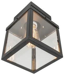 Plafón industrial preto 1-luz IP23 - ROTTERDAM Moderno