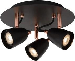 Lucide 26956/15/17 - Foco LED RIDE-LED 3xGU10/5W/230V cobre