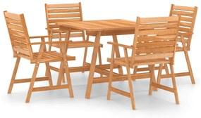 3057843 vidaXL 5 pcs conjunto de jantar para jardim madeira de acácia maciça