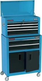 Draper Tools Armário de ferramentas com rodas 61,6x33x99,8 cm azul