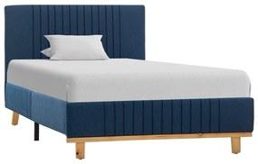 286632 vidaXL Estrutura de cama 100x200 cm tecido azul