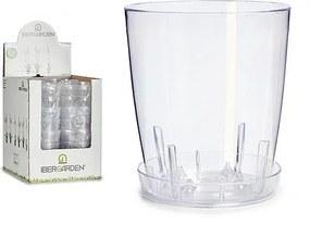 Plantador Transparente Plástico Transparente (18 x 18 x 18 cm)