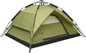 Tenda de campismo pop-up 2-3 pessoas 240x210x140 cm verde