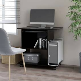 Secretária de computador 80x50x75 cm contraplacado preto