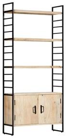 284421 vidaXL Estante de 4 andares 80x30x180 cm madeira de mangueira maciça