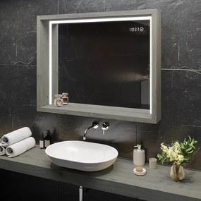 Espelho com moldura tipo caixa WoodenFrame  x=50 x   y=50 cm