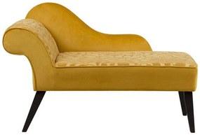 Sofá chaise longue amarelo versão à esquerda 90 x 52 cm BIARRITZ