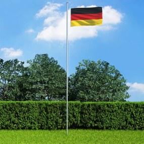 3053303 vidaXL Bandeira da Alemanha com mastro de alumínio 6,2 m