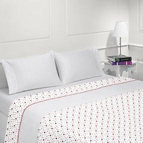 Lençóis flanela para inverno - Jogo de lençóis em flanela nacional: Rosa Para cama 180cm - 1 lençol superior 280 x 290 cm + 1 lençol de baixo 280 x 290 cm + 2  fronhas almofada 50x70 cm