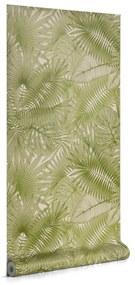 Kave Home - Papel pintado Tropic verde 10 x 0,53 m FSC MIX Credit