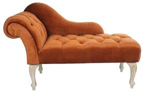 Sofá Chaise Longue DKD Home Decor Toasted Orange Madeira (120 x 56 x 78 cm)