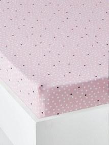 Lençol-capa para criança, tema Dream big rosa medio estampado