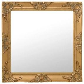 320333 vidaXL Espelho de parede estilo barroco 60x60 cm dourado