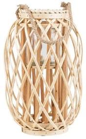 Lanterna decorativa 40 cm castanha claro MAURITIUS