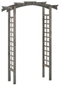 Arco em treliça 150x50x220 cm pinho impregnado cinzento