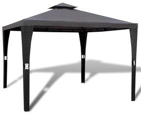 41451 vidaXL Gazebo com telhado 3 x 3 m cinzento escuro