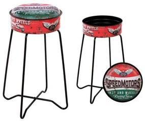 Banqueta Speed Motors 116237 Retro Vermelho
