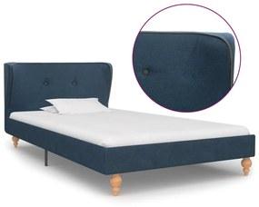 280577 vidaXL Estrutura de cama em tecido azul 90x200 cm