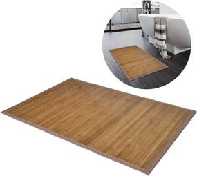 Tapete casa de banho, bambu 60 x 90 cm castanho
