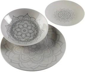 Conjunto de Louça Mandalas Porcelana (18 Peças)