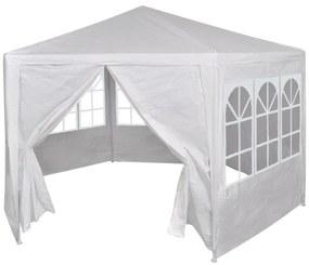 42346 vidaXL Tenda com 7 paredes laterais em branco 2 x 2 m