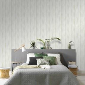 4 pcs rolos papel de parede 0,53x10m ondas branco