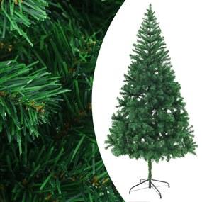 60176 vidaXL Árvore de Natal artificial com suporte aço 210 cm 910 ramos