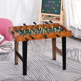 HOMCOM Mesa de matraquilhos com 22 jogadores incluídos 84,5x40x61,2 cm Cor Madeira e Preto