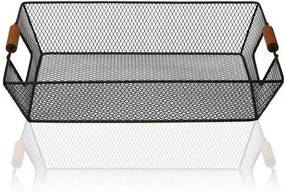 Cabaz Metal (25 x 8 x 35 cm) Preto