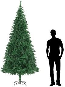 284291 vidaXL Árvore de Natal artificial 300 cm verde