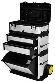 140301 vidaXL Armário móvel para ferramentas metálico de 3 partes