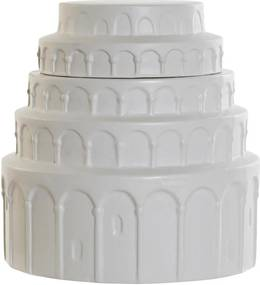 Vaso DKD Home Decor Branco Cerâmica (21 x 21 x 22 cm)