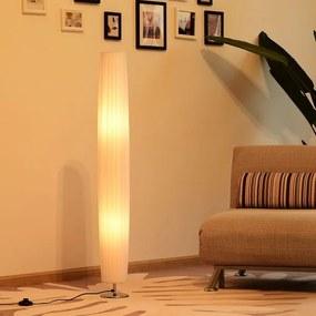 HomCom Lâmpada de assoalho moderna com 2 luzes E27 40W e botão de pé com base de aço inoxidável de 120cm - branco