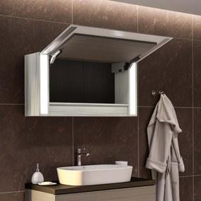 Armário com espelho e com iluminação LED Sofia