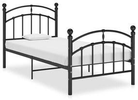 324967 vidaXL Estrutura de cama 90x200 cm metal preto