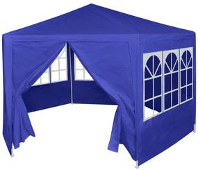 42347 vidaXL Tenda com 6 painéis laterais 2x2 m azul