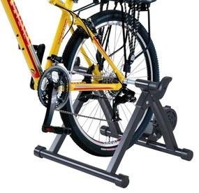 HomCom Bicicleta de Treinamento com Rolo Que Dobra Resistência Ajustável Treinador de Ciclismo Aço Bicicleta Interior