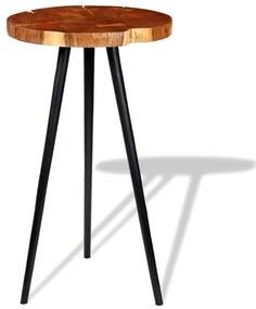 243958 vidaXL Mesa de bar em troncos, madeira de acácia maciça (55-60)x110 cm
