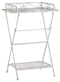 Mesa de apoio metal branco ANCUD
