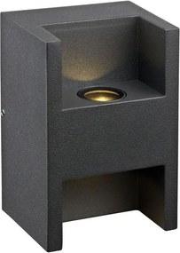 Markslöjd 105809 - Luz de parede LED de exterior THRONE LED/1W/230V IP44