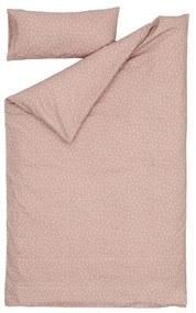 Kave Home - Set Betiana de lençol, capa edredão e almofada 100% algodão orgânico bolinhas 90 x 190 cm