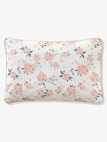 Fronha de almofada para bebé, tema Eau de Rose branco claro estampado