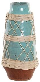 Vaso DKD Home Decor Rotim Grés Mediterrâneo (14 x 14 x 29.5 cm)