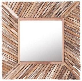 Espelho de parede em madeira clara 60 x 60 cm KANAB