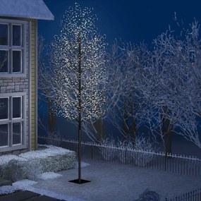 51278 vidaXL Árvore de Natal 2000 LED flor cerejeira luz branco frio 500 cm