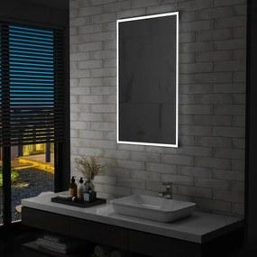 144719 vidaXL Espelho de parede LED para casa de banho 60x100 cm