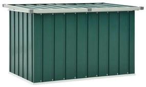 46257 vidaXL Caixa de arrumação para jardim 109x67x65 cm verde