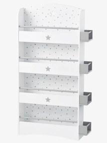 Estante-biblioteca para criança, tema Sirius branco claro liso com motivo